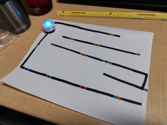 Ozobot in Aktion