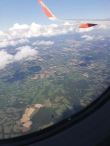 Landeanflug auf London Gatwick